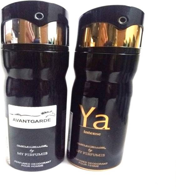 PARFUMDELUXE AVANTGARDE AND YA INTENSE Deodorant Spray  -  For Men & Women