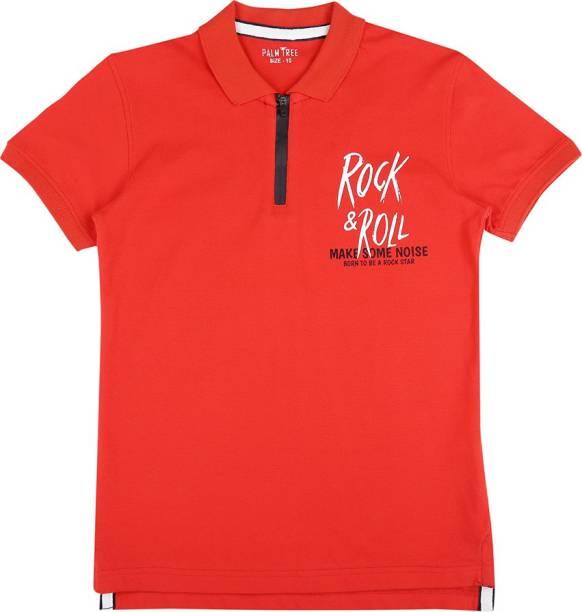 GINI & JONY Boys Graphic Print Cotton Blend T Shirt