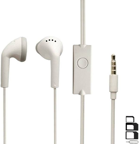 UrCart Headphone Accessory Combo for Meizu C9, Meizu M8C, Meizu M6T, Meizu V8 Pro, Meizu V8, Meizu C9 Pro, Meizu M8 Lite, Meizu M8C Lite, Meizu M6S, Mobiistar C1 Shine, Mobiistar C2, Mobiistar E1 Selfie, Mobiistar C1 Lite, Mobiistar X1 Dual, Mobiistar C1, Mobiistar CQ, Mobiistar XQ Dual Earphones Original Like Headsets In-Ear Headphones Wired Stereo Bass Head Earbuds Hands-free With Mic, 3.5mm Jack
