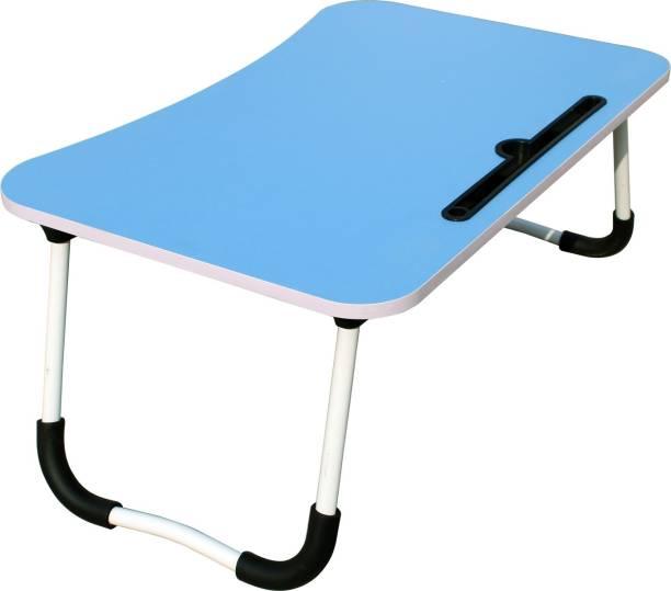 MemeHO Blue Wood Portable Laptop Table