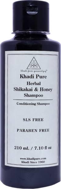 Khadi Pure Herbal Shikakai & Honey Shampoo SLS-Paraben Free - 210ml