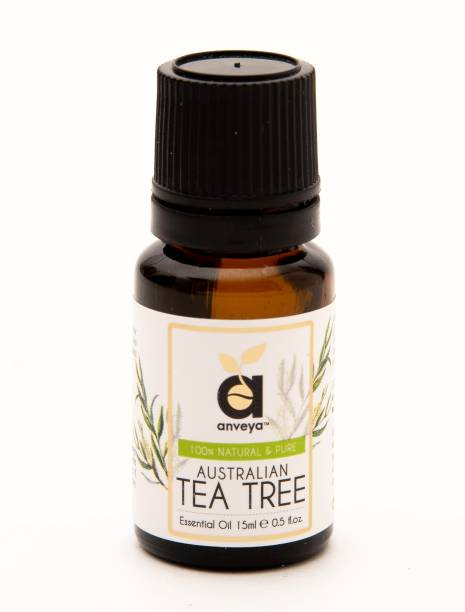 Anveya Tea Tree Essential Oil, 15ml, 100% Natural & Pure, For Skin, Hair, and Home
