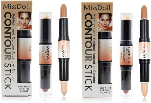 MISS DOLL Concealer and Contour Stick cream{Mega pack 2pic} Concealer