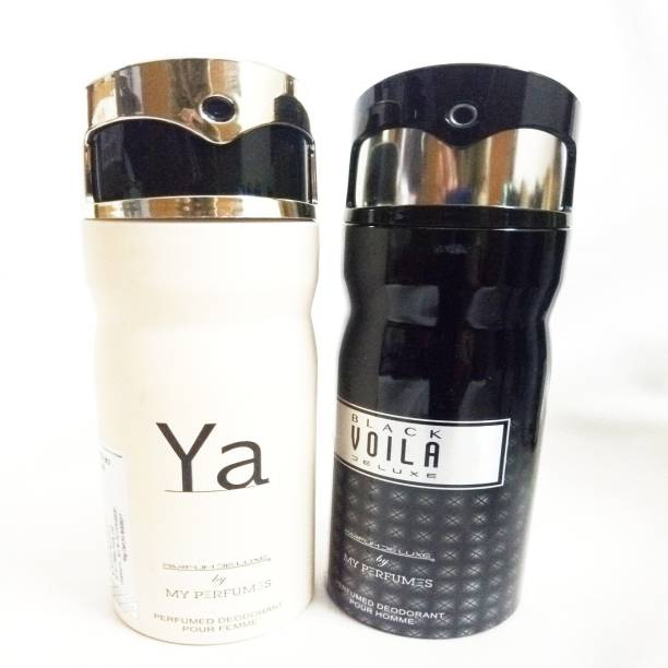 PARFUMDELUXE YA AND BLACK VOILA DELUXE Deodorant Spray  -  For Men & Women