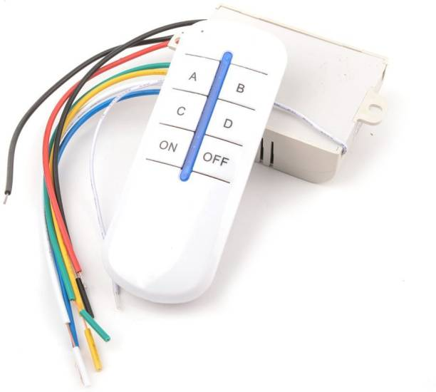 TRP TRADERS 4 Way Wireless Remote Control Switch For Fans And Light 3 A Four Way Electrical Switch