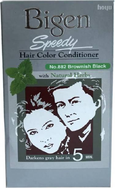 Bigen SPEDEEY Color Hair Color (BROWNISH BLACK NO. 882) , BROWNISH BLACK