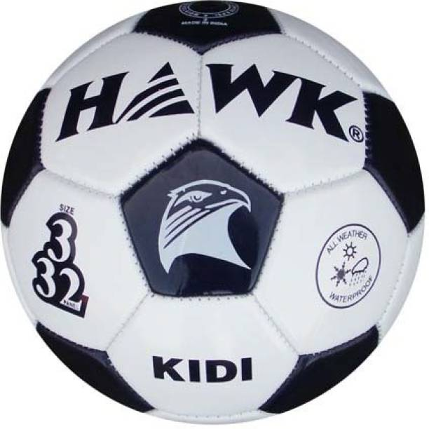 HAWK Football Size 3, For Kids under 8 years, Wht / Blk Football - Size: 3