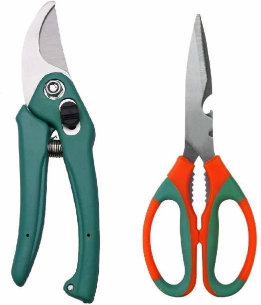 JetFire Garden Scissor, Garden Cutter Gardening Cut Tools (Set Of 2) Garden Tool Kit
