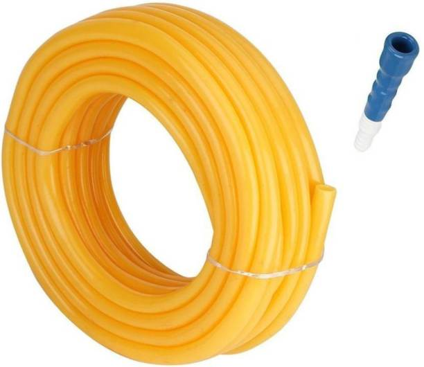 Garbnoire Premium Quality 10 Meter 0.5 inch Water Pipe for Car Wash | Garden Pipe | PVC Water Pipe with Hose Connector and Clamps Premium Quality 10 Meter 0.5 inch Water Pipe for Car Wash | Garden Pipe | PVC Water Pipe with Hose Connector and Clamps Hose Pipe