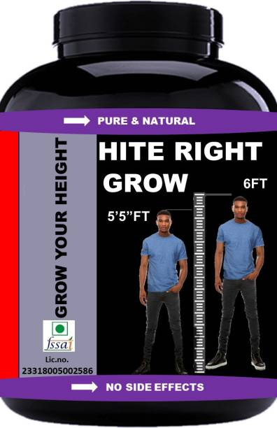 Vitara Healthcare Hite Right Grow Height/Body Growth Weight Gainers (Orange Pack Of 1) Weight Gainers/Mass Gainers