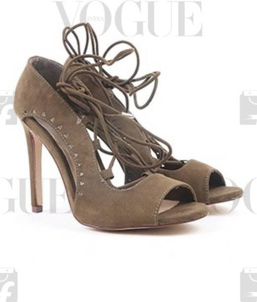 59083c1ba0db1c Miss CL By Carlton London Women Green Heels