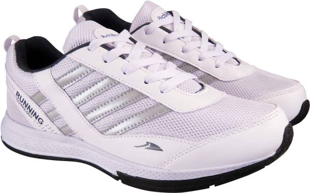 75d8b4363c0ba Action Synergy Men s SRF0095 White Silver Phylon Sole Sports Running Shoes  For Men