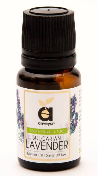 Anveya Bulgarian Lavender Essential Oil, 15 ml, 100% Natural & Pure, For Skin and Aromatherapy