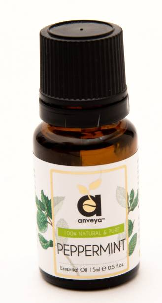 Anveya Peppermint Essential Oil, 15 ml, 100% Natural & Pure, For Skin and Aromatherapy