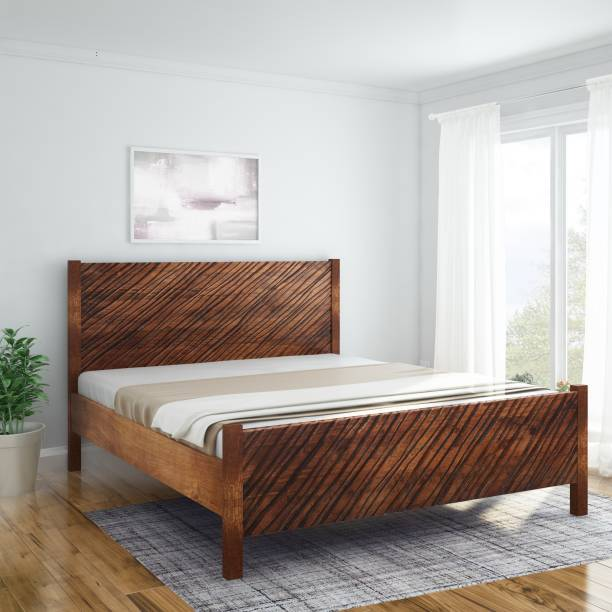 InLiving Niagara Sheesham Solid Wood King Bed