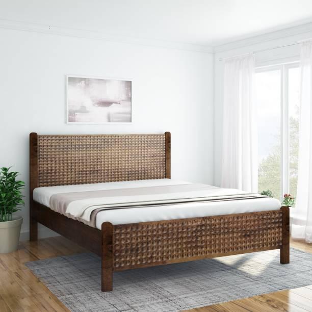InLiving Array Sheesham Solid Wood Queen Bed