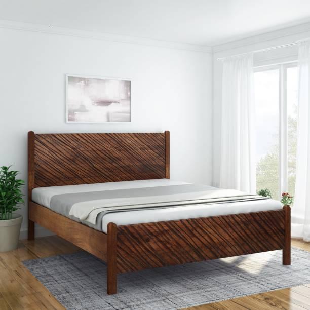 InLiving Niagara Sheesham Solid Wood Queen Bed