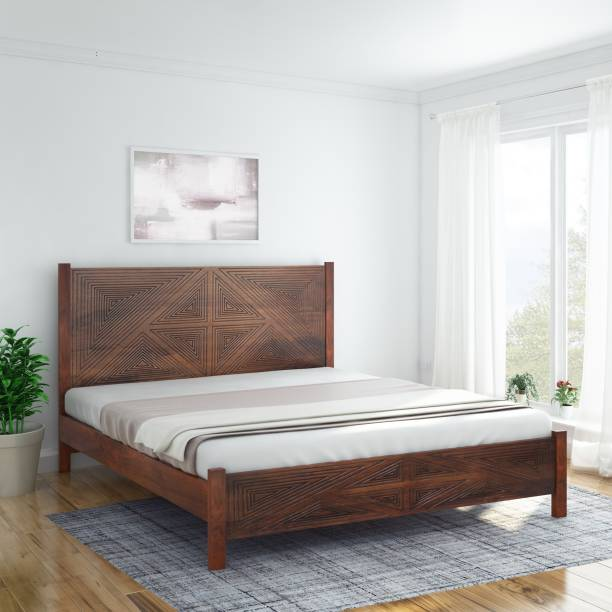 InLiving Solid Wood Queen Bed