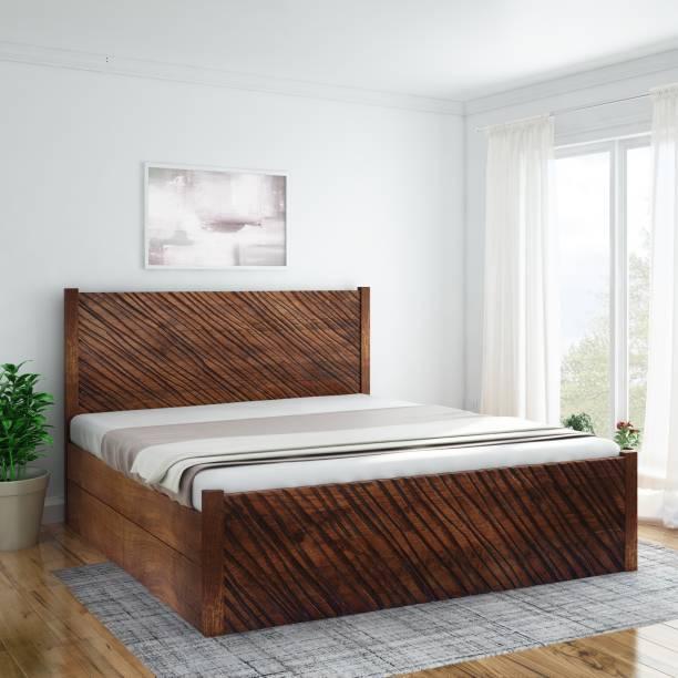 InLiving Niagara Sheesham Drawer Solid Wood King Drawer Bed