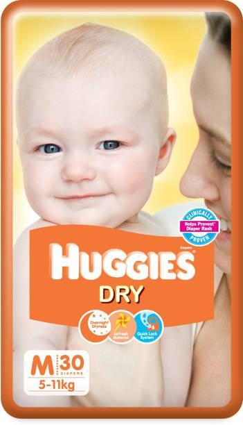 Huggies New Dry Tape Diapers - M