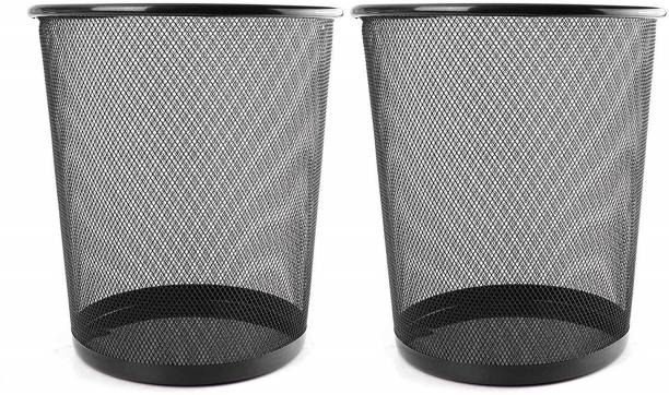 Royalkart Metal Mesh Trash Can for Home, Office, Kitchen, Living Room, Bathroom, Garbage Can Dustbin Wastebin(Pack of 2) Iron Dustbin
