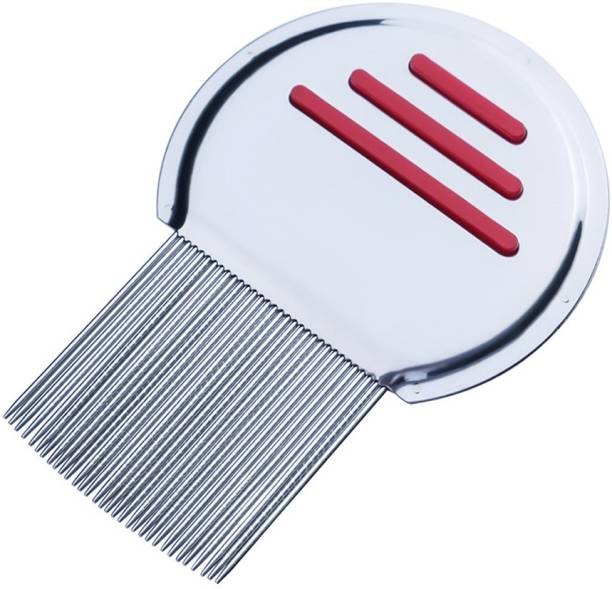 TBUY RED Premium Lice Comb With Steel Teeth removes Lice & Nits NIT Free Hair
