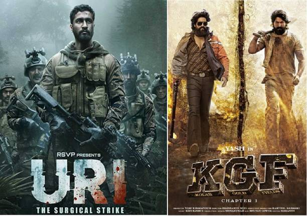 Uri: The Surgical Strike & K.G.F: Chapter 1 ( both in Hindi ) clear HD print clear voice it's burn DATA DVD play only in computer or laptop not in DVD or CD player without poster