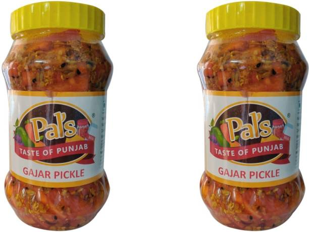 Pals The Taste Of Punjab Ready to Eat Gajar Pickle Pack of 2 Carrot Pickle