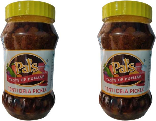 Pals The Taste Of Punjab Ready to Eat Tenti Dela Pickle Pack of 2 Green Gooseberry Pickle