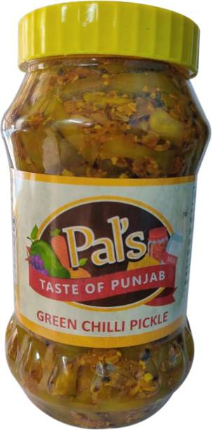Pals The Taste Of Punjab Ready to Eat Green Chilli Pickle Green Chilli Pickle
