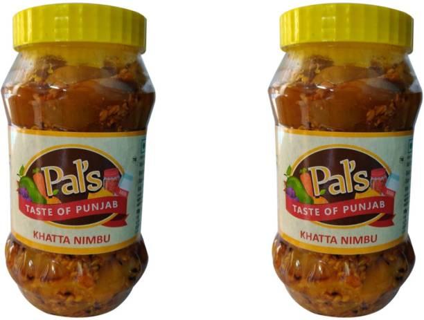 Pals The Taste Of Punjab Ready to Eat Khatta Nimbu Pack of 2 Lemon Pickle