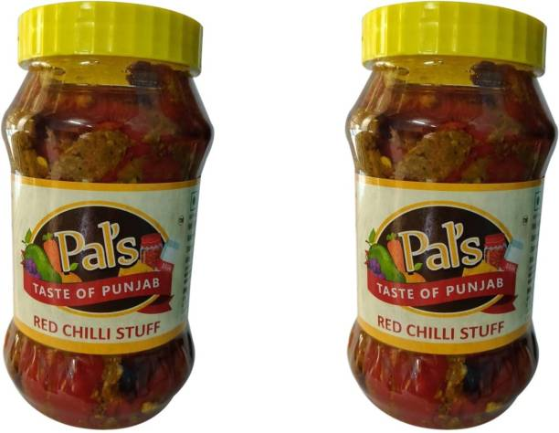 Pals The Taste Of Punjab Ready to Eat Red Chilli Stuff Pack of 2 Red Chilli Pickle