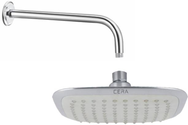 """CERA - Overhead Rain Shower Square 200x200 mm (8""""x8"""") with Shower Arm 380 mm (15"""") and Wall Flange Shower Head"""