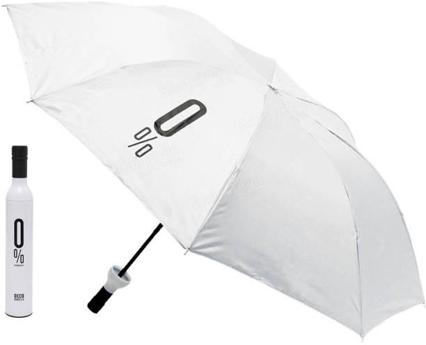 STYLE HOMEZ Fashionable Wine Bottle White 110 cm Travel Umbrella Umbrella
