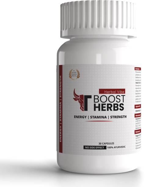 HERBAL VIBE Tboost Herbs Testosterone Booster Supplement for Stamina Booster