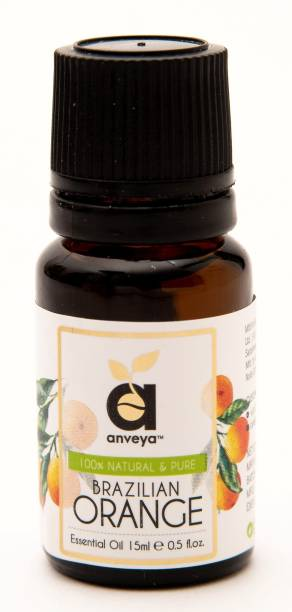 Anveya Orange Essential Oil, 15 Ml, 100% Natural & Pure For Skin, Hair and Aromatherapy