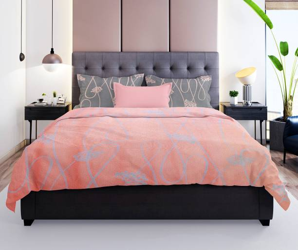 Prerak Deziners 180 TC Cotton Double Abstract Bedsheet