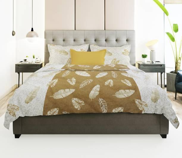 Prerak Deziners 180 TC Cotton Double Floral Bedsheet