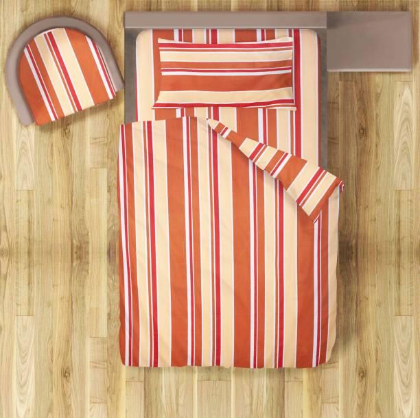 Prerak Deziners 180 TC Cotton Single Striped Bedsheet