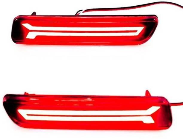 PRTEK Car arrow Reflector Led Brake Light for Bumper(Rear/ Back) Car Reflector Light