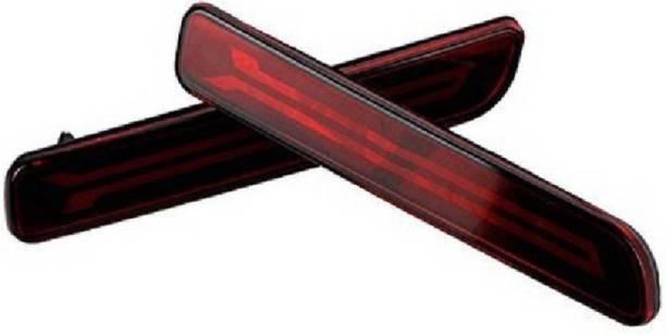 PRTEK Car Reflector Led Brake Light for Bumper(Rear/ Back) Drl Ertiga- Set of 2 Pcs with wiring (For Baleno/Breeza/Ciaz/Ertiga/New Swift Dzire/Scross/Ritz/SX4) Car Reflector Light