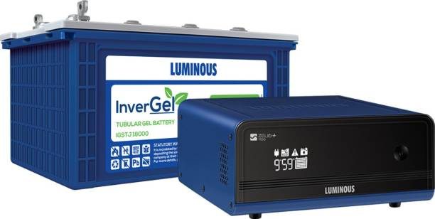 LUMINOUS Zelio 1100 Wifi + InverGel IGSTJ 18000 150 Ah Gel Tubular Battery Tubular Inverter Battery