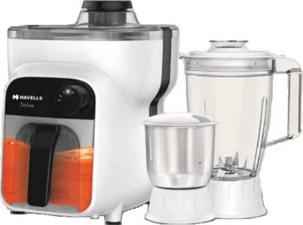 HAVELLS Stilus 3 Jar 500 Juicer Mixer Grinder (3 Jars, White)