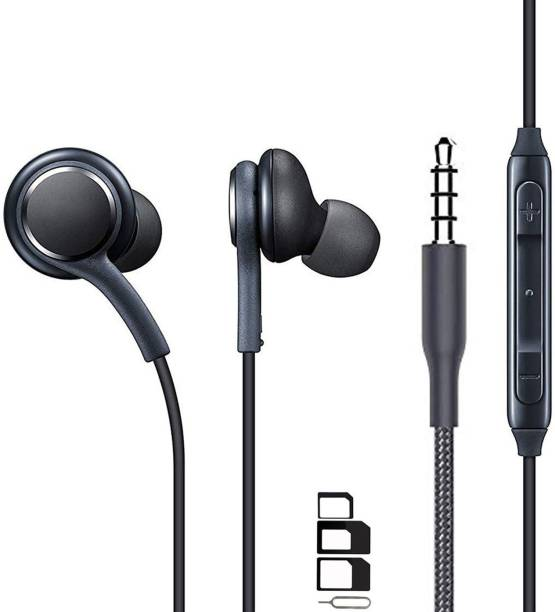 ShopReals Headphone Accessory Combo for Samsung Star 3 s5220, Samsung Star Deluxe Duos S5292, Samsung T469 Gravity 2, Samsung T919 Behold, Samsung T939 Behold 2, Samsung Trender, Samsung U380 Brightside, Samsung U700, Samsung U800 Soul b, Samsung Vibrant, Samsung w 2016, Samsung W 789, Samsung W2017, Samsung W850, Samsung W960 AMOLED 3D, Samsung Wave M S7250, Samsung Wave Y S5380 Earphones Original Like Headsets In-Ear Headphones Wired Stereo Bass Head Earbuds Hands-free With Mic, 3.5mm Jack