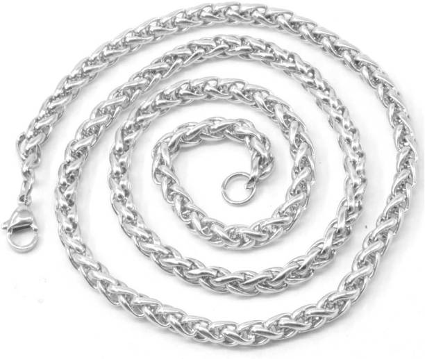 8d6f6a4216 Men Style Mens 6mm Thickness Braided Wheat Link Rope (21 Inch Long)  Sterling Silver