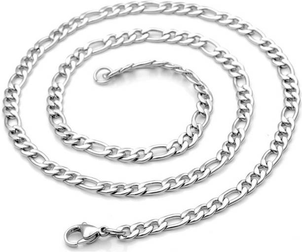 928551e26f Men Style 6 mm Thickness Figaro LinkWith Lobster Clasp ASCh005003  Stainless Steel Chain