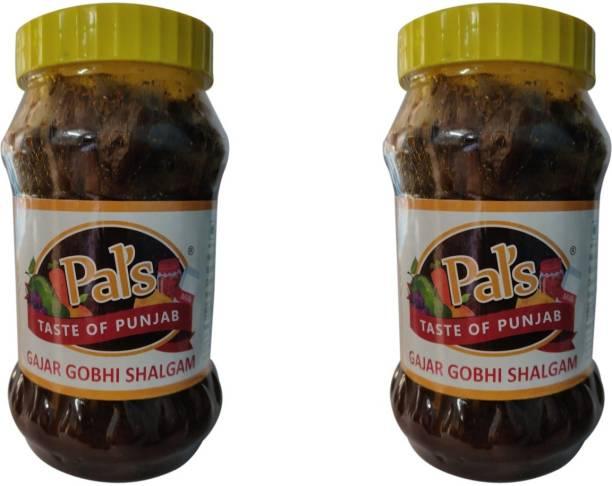 Pals The Taste Of Punjab Ready to Eat Gajar Gobhi Shalgam Pack of 2 Carrot, Cabbage Pickle
