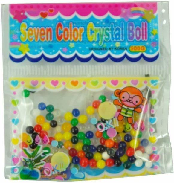Futurekart Colorful Magic Crystal Water Jelly Mud Soil Beads Balls-Mixed Color Set of 5 Bags