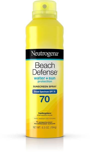 NEUTROGENA BEACH DEFENCE WATER + SUN SPY 70 SUNSCREEN SPRAY 240 GM - SPF 70 PA+++