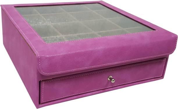 Essart 11080-Pink Multi Purpose Jewellery Box, Vanity Box, Cufflinks Organiser Box Vanity Box